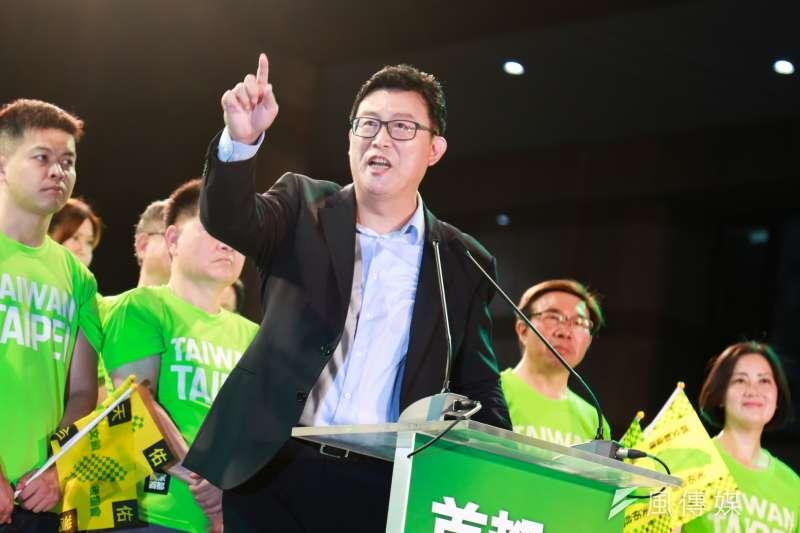 民進黨台北市長參選人姚文智(圖)選情低迷,即使在民進黨中央祭出「台灣價值」牌,意圖打壓台北市長柯文哲的氣勢,在民調結果上仍未有顯著成效。(資料照,簡必丞攝)