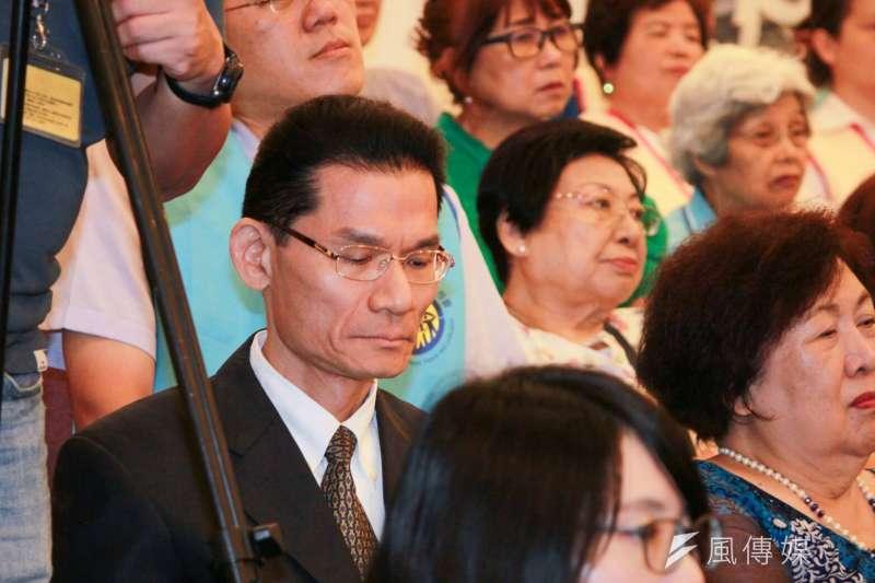 反同組織護家盟秘書長張守一,也擔任宗華教信聯盟的常務理事委員。(方炳超攝)