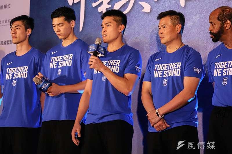 上一階段資格賽陳盈駿因為受傷而無法出賽,這次可以說是首次和亞洲頂尖控衛的正面對決,為此陳盈駿也十分期待。(圖/記者余柏翰攝)