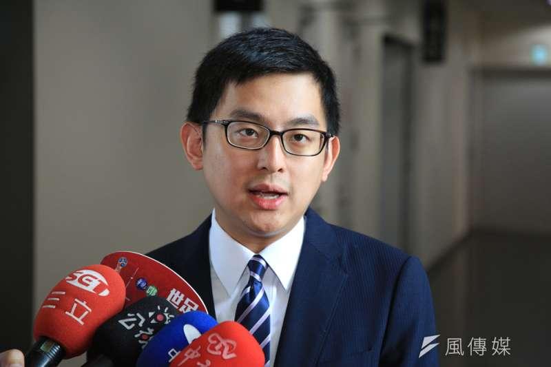 對於國民黨智庫自行公布台中市長民調,卓冠廷直呼此舉「罕見」。(曾家祥攝)