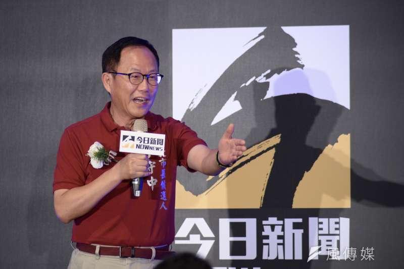 20180629-Nownews十週年茶會,台北市長參選人丁守中出席。(甘岱民攝)