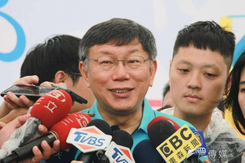 台北市長柯文哲2017年赴上海參加雙城論壇,卻因兩岸一家親招致國內輿論批評。柯文哲4日表示,2015講沒事,2017卻有事,「我也覺得滿奇怪的」。(資料照,方炳超攝)