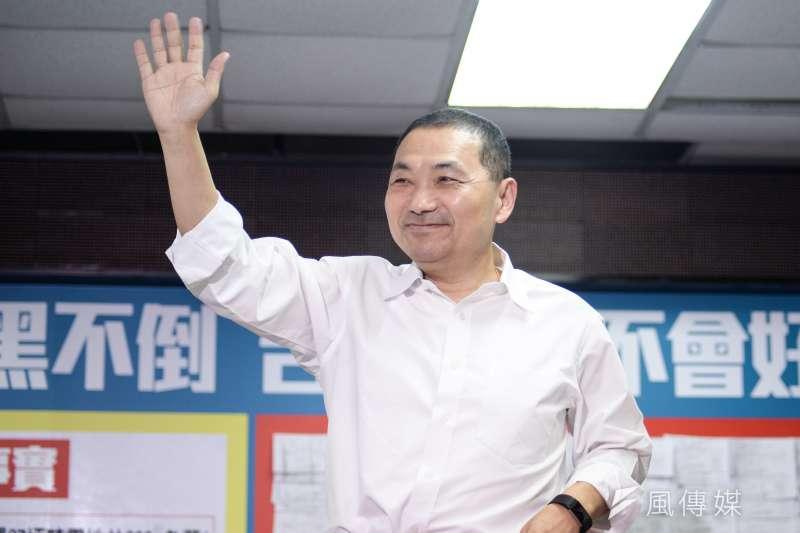 民進黨狂打國民黨新北市長參選人侯友宜的文大宿舍案,沒有太大效果。(甘岱民攝)