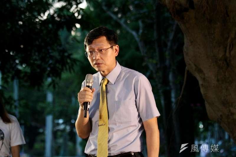 拔不了管中閔,台大代理校長郭大維也成了箭靶子。圖為郭大維出席陳文成紀念會。(陳韡誌攝)