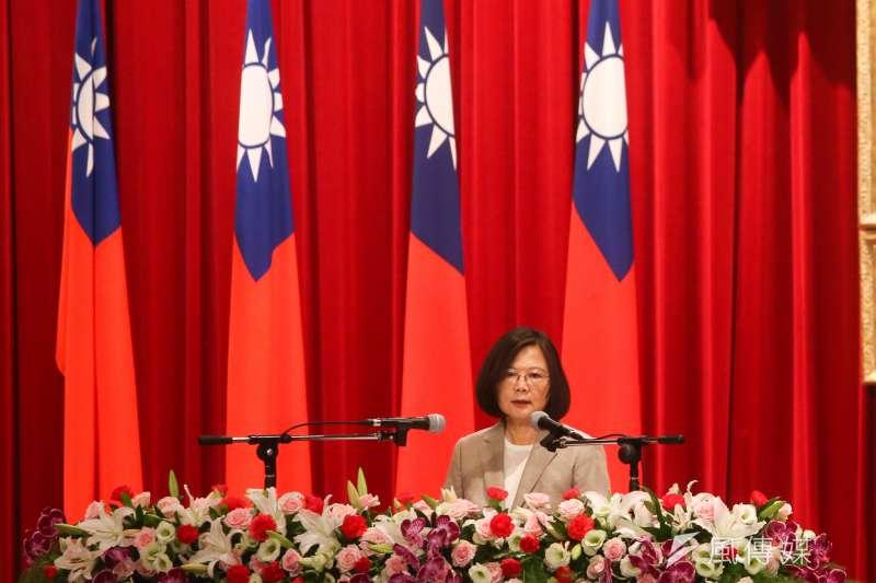 20180702-總統蔡英文出席中研院院士會議開幕式並致詞。(陳明仁攝)