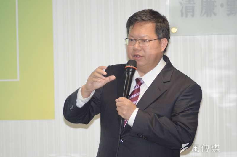 桃園市長鄭文燦宣布明年機捷全線將降價10元,卻引發口水戰。(資料照,甘岱民攝)