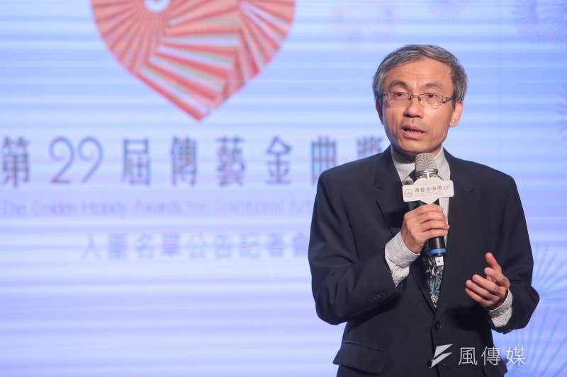 20180704-文化部主秘陳濟民4日出席第29屆傳藝金曲獎入圍名單公告記者會。(顏麟宇攝)
