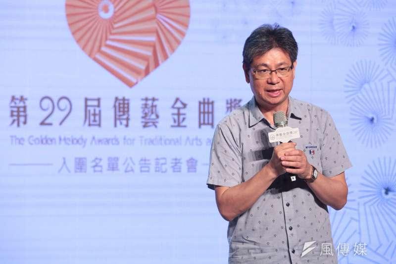 傳藝中心主任吳榮順表示,以前還在金曲獎裡時,只有以專輯為主的出版類獎項,獨立成傳藝金曲獎後,就多了傳統戲曲類。(顏麟宇攝)
