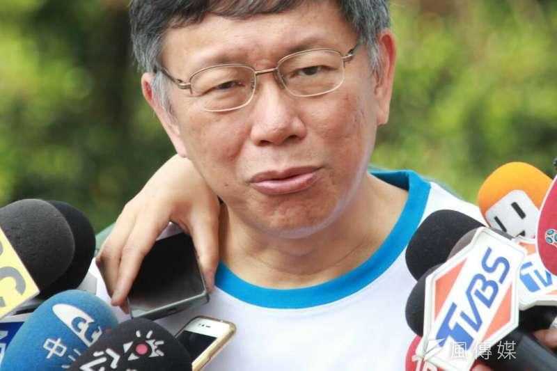 作者認為,台北市長柯文哲面對「兩岸一家親」又有新見解,是標準的見人說人話,見鬼說鬼話。(資料照,方炳超攝)