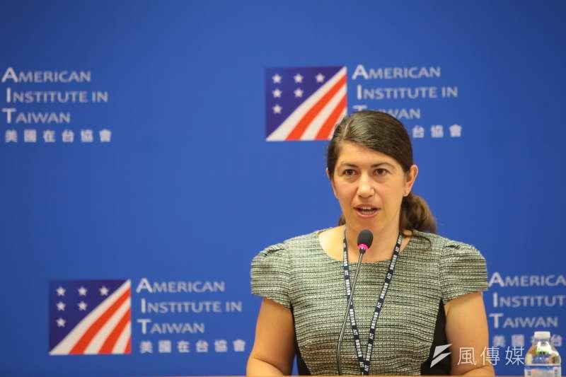 美國在台協會(AIT)發言人孟雨荷(Amada Mansour)。(資料照,顏麟宇攝)