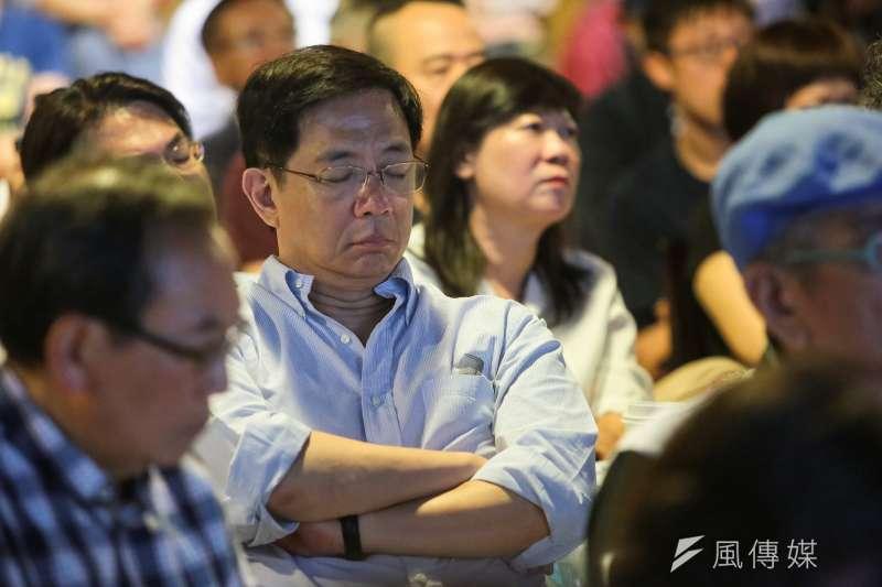 中華經濟研究院董事長胡勝正昨晚病逝,中研院院士管中閔(圖)在臉書上撰文表示感傷。(資料照,顏麟宇攝)
