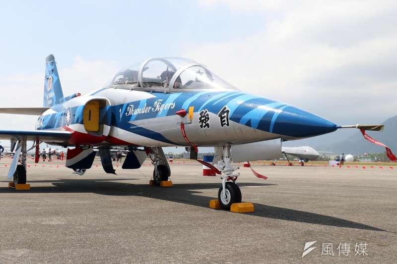 2017年, AT-3型機的彩繪塗裝。(蘇仲泓攝)