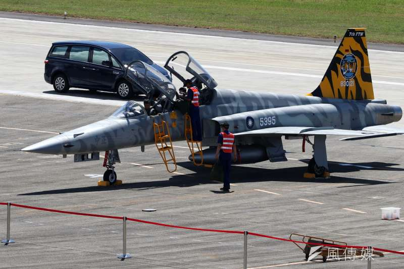 2018年, 配合空軍志航基地開放,F-5型機推出彩繪塗裝。(蘇仲泓攝)