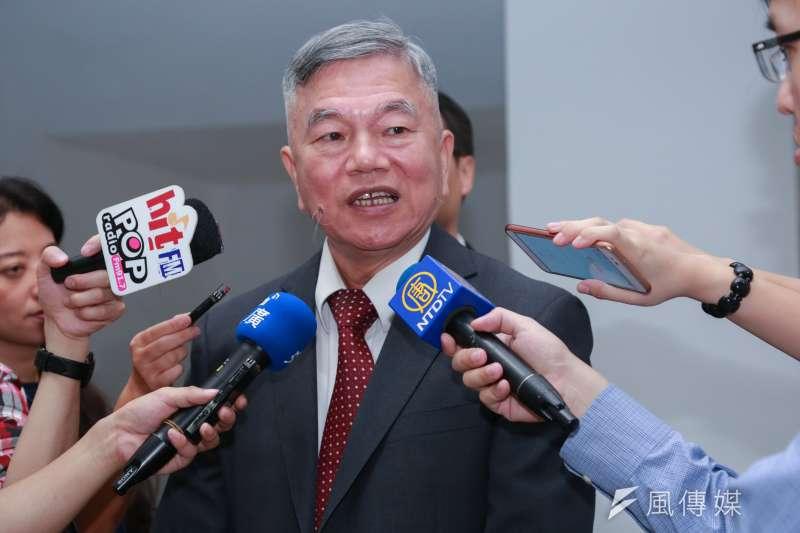 經濟部長沈榮津回應中美貿易戰轉單問題。(資料照片,簡必丞攝)