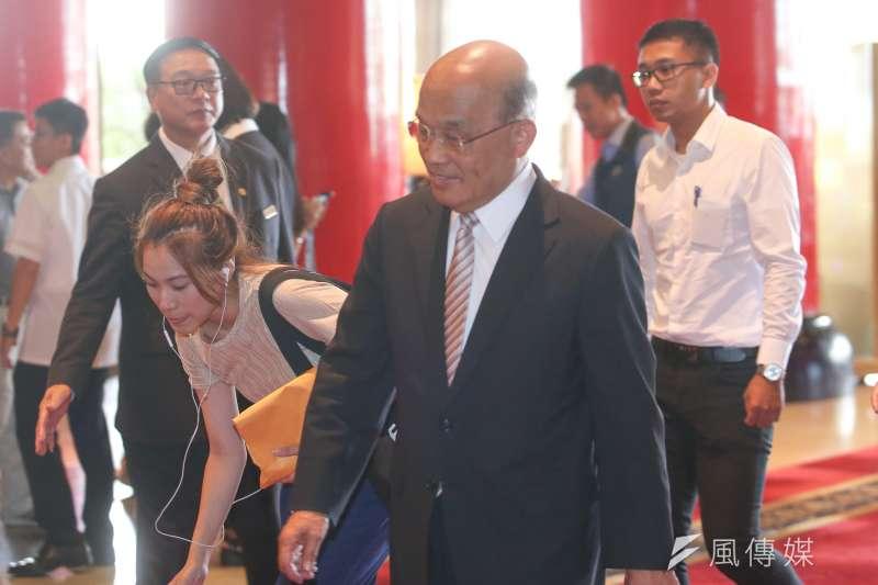 20180715-蘇貞昌出席「民主進步黨改革政績一定營」。(陳明仁攝)