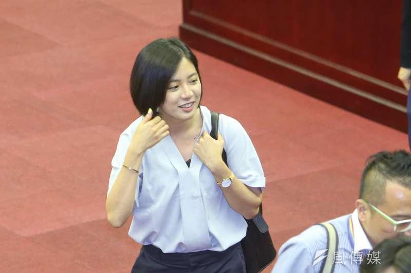 最近爆紅的柯P幕僚「學姐」黃瀞瑩。(資料照,陳明仁攝)
