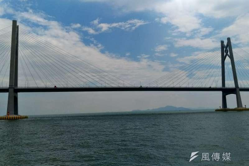 斥資1千億人民幣的港珠澳大橋,進入緊鑼密鼓的通車前測試準備階段。(圖片來源:其他)