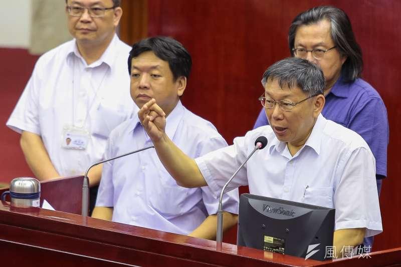 針對中正橋追加預算案,台北市議員周柏雅批評市長柯文哲能力不好,柯也坦言,「這是我們能力不好」。(顏麟宇攝)