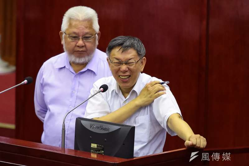 對於台北市議員王世堅的批評,台北市長柯文哲回應,指控人家要有證據 。(顏麟宇攝)