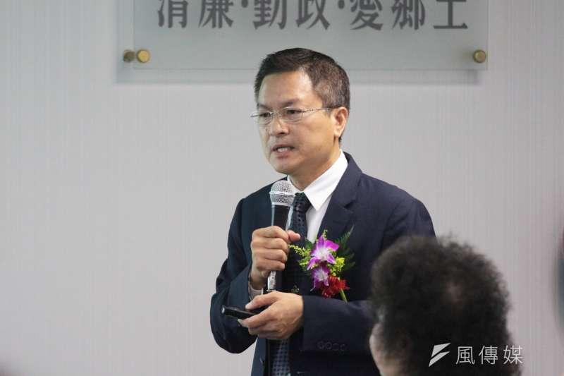 20180718-民進黨18日舉行中執會,彰化縣長魏明谷進行專案報告。(陳韡誌攝)