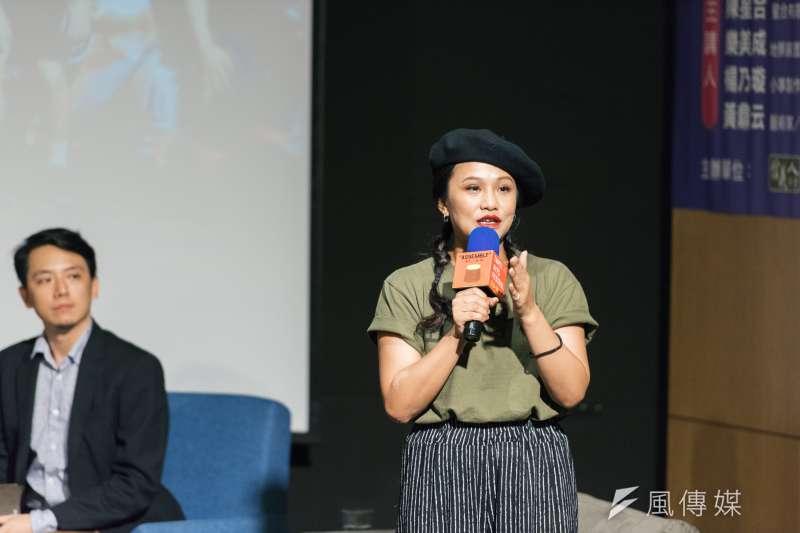 20180718-邁入第20屆的台北藝術節,於17日晚間舉辦「展演藝術老實樹」論壇,邀集4位致力將作品帶到城市各角落的創作者,與台北市長柯文哲對談。小事製作藝術總監楊乃璇。(台北表演藝術中心提供)