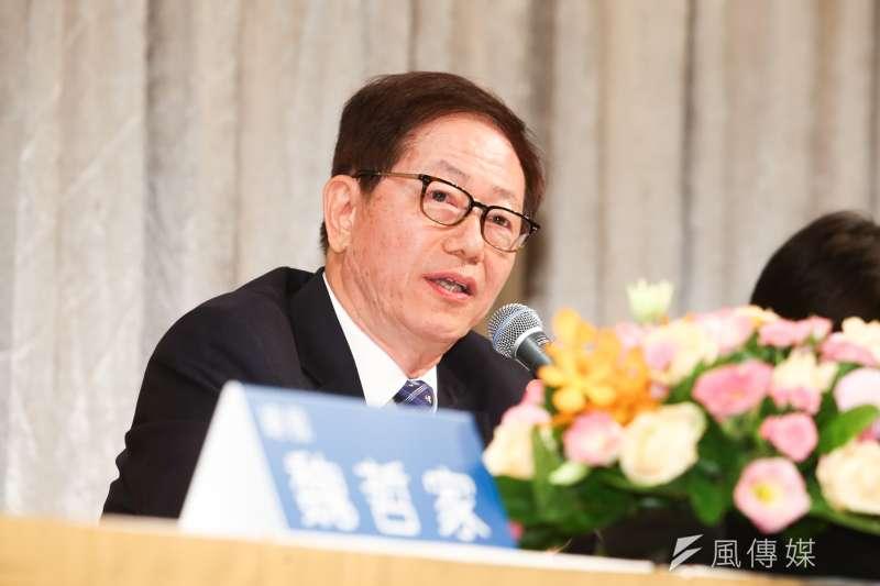 台積電董事長劉德音,出席台積電法人說明會。(陳明仁攝)
