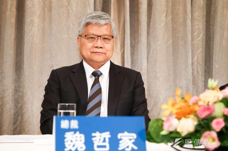台積電總裁魏哲家,出席台積電法人說明會。(陳明仁攝)
