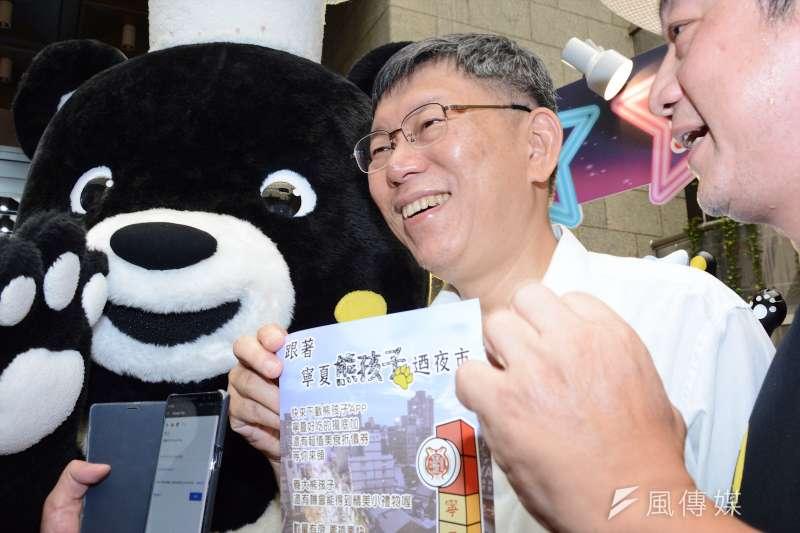 台北市長柯文哲把素人「旋風」造成歷久不衰的「現象」,是政壇異數,其實也是台灣政黨政治不正常的表徵。(龍德成攝)