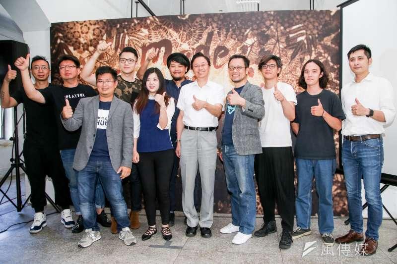 20180719-要在聯合國周展現台灣軟實力及創意的「前進WOW TAIWAN 紐約藝術展」今舉行啟動記者會,前行政院長張善政與會。(陳明仁攝)