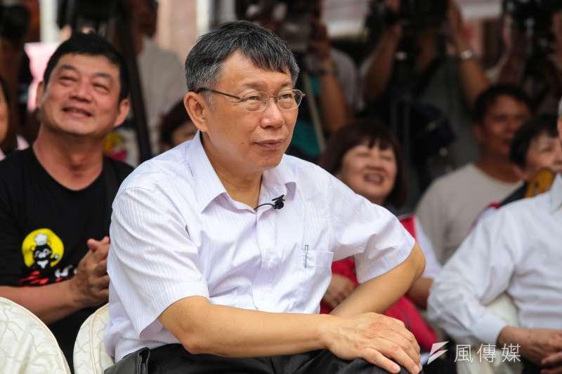 作者認為,台北市長柯文哲4年下來,毫無對台北市建設,提供任何功績,故以網軍,搞笑,博取青年支持度。(資料照,顏麟宇攝)