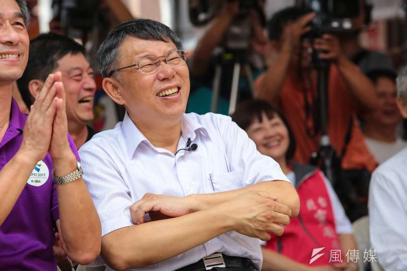 作者認為,許多政治議題上的衝突跟爭吵 ,是可以一笑置之的 。圖為台北市長柯文哲。(資料照,顏麟宇攝)
