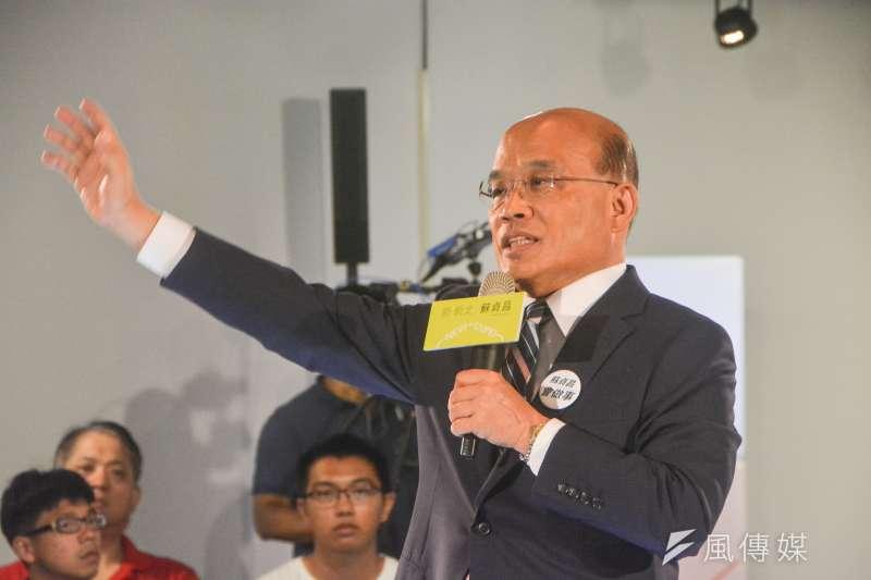民進黨新北市長參選人蘇貞昌表示,他做任何事都很認真,選舉我也很認真。(資料照,曾定嘉攝)