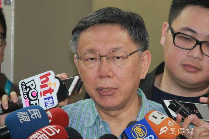 20180725-台北市長柯文哲25日受訪時表示,有發文給農委會,希望把北農股權買來。(方炳超攝)
