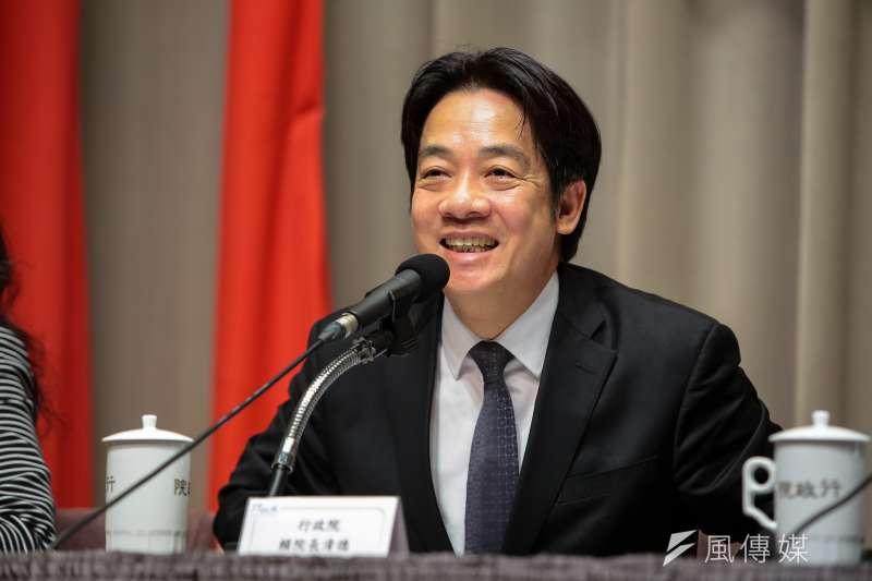 20180726-行政院長賴清德26日出席行政院會後記者會。(顏麟宇攝)