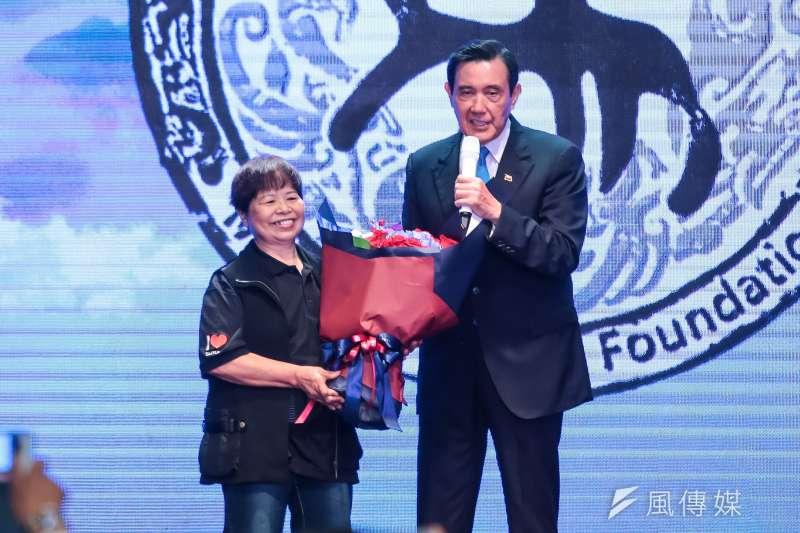 20180727-陳樹菊女士27日出席馬英九文教基金會成立大會。(顏麟宇攝)