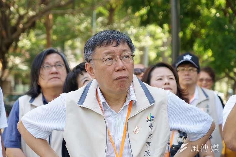 網路媒體最新民調出爐,台北市長柯文哲以42.4%支持度暫居第1名寶座,而民進黨台北市長候選人姚文智卻下跌至僅剩5%支持度。(資料照,盧逸峰攝)