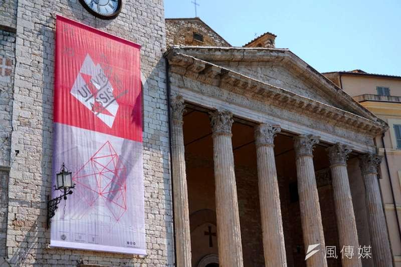 阿西西的國際藝術節。(曾廣儀攝)