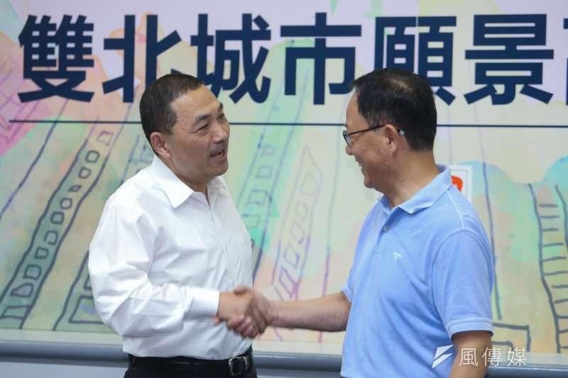 20180730-國民黨雙北市長參選人丁守中、侯友宜出席「雙北座談會」。(陳明仁攝)
