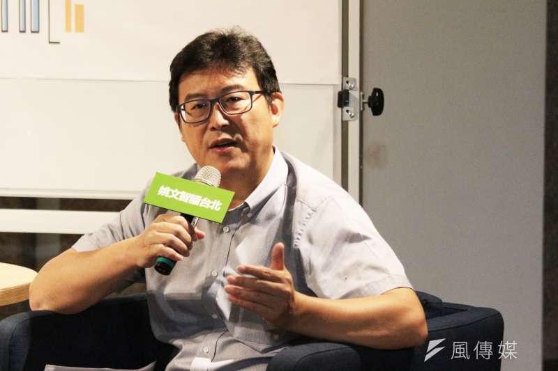 民進黨台北市長參選人姚文智30日表示,雙北是一個層次、首都圈是一個層次,在選舉中陸續就這方面的想法,再向大家公布。(陳韡誌攝)