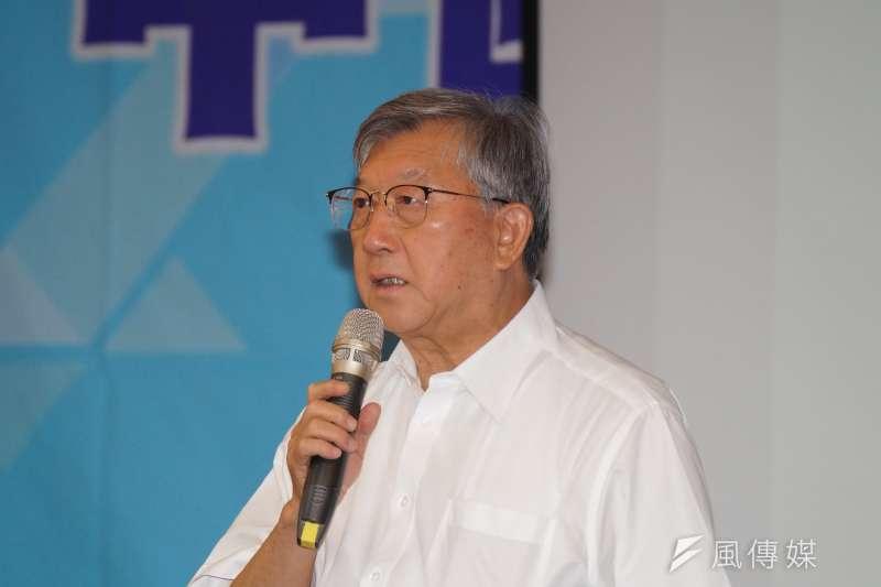 20180801-國民黨於新竹縣舉行行動中常會,縣長邱鏡淳發言。(盧逸峰攝)