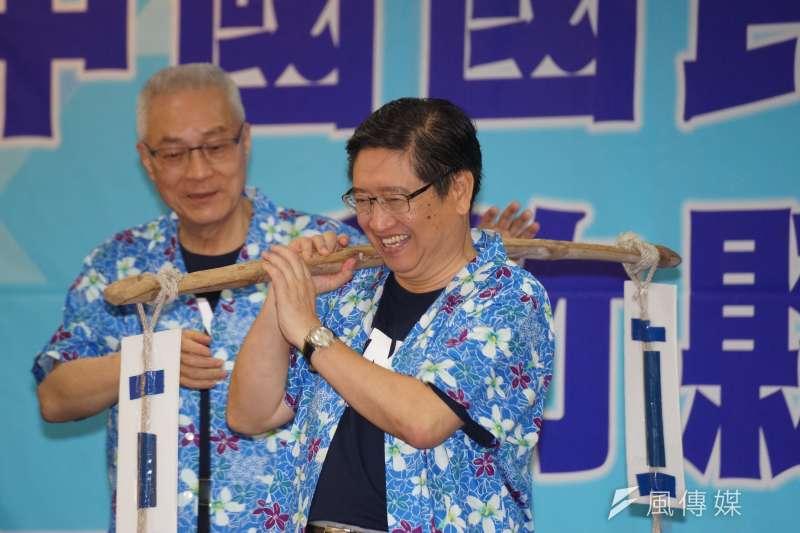 20180801-國民黨於新竹縣舉行行動中常會,主席吳敦義、縣長候選人楊文科出席。(盧逸峰攝)