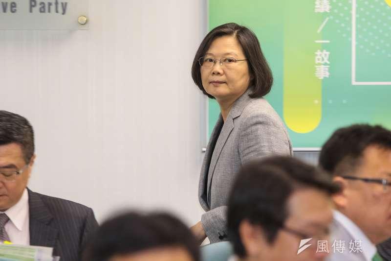 20180801-總統蔡英文1日出席中常會。(顏麟宇攝)