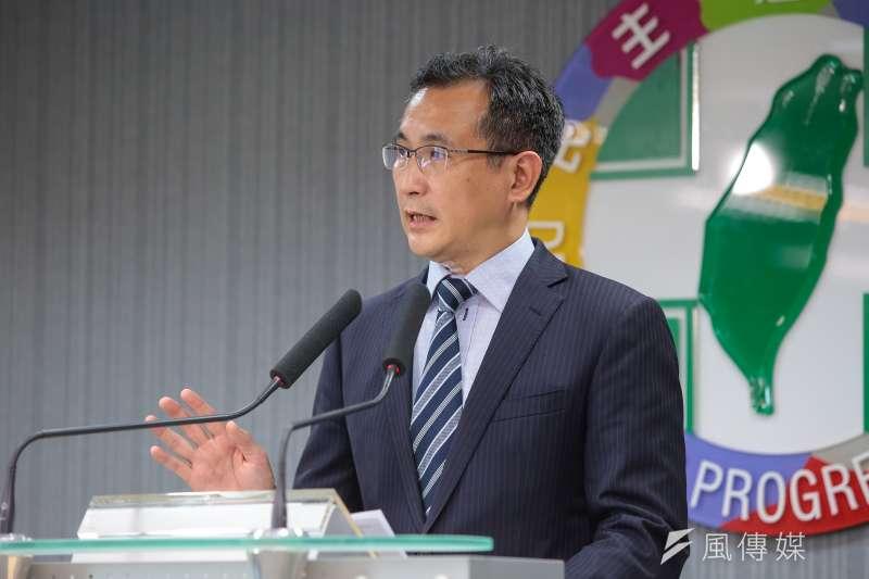 民進黨發言人鄭運鵬。(資料照片,顏麟宇攝)