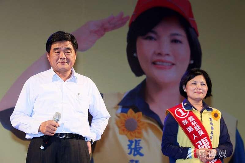 張榮味(左)入獄,民進黨還是沒能掌控農會。(柯承惠攝)