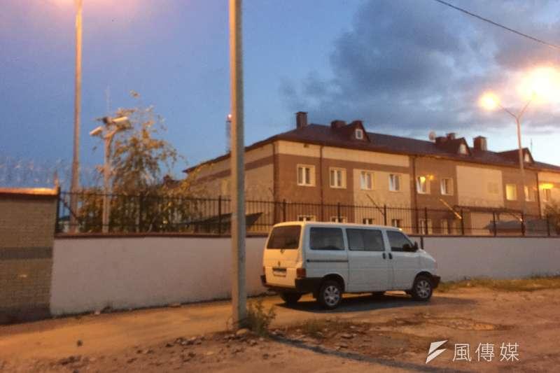 南奧塞梯亞首都茨辛瓦利內的俄羅斯駐軍基地(簡恒宇攝)
