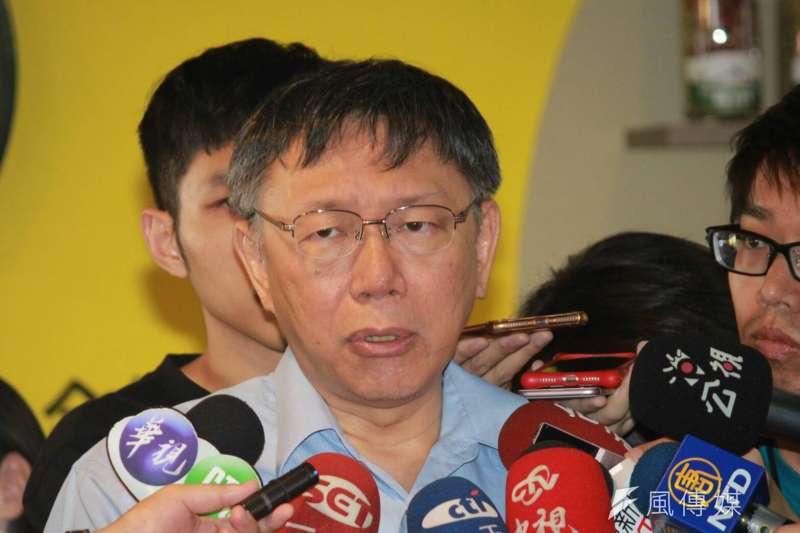 20180802-台北市長柯文哲2日接受媒體訪問。(方炳超攝)
