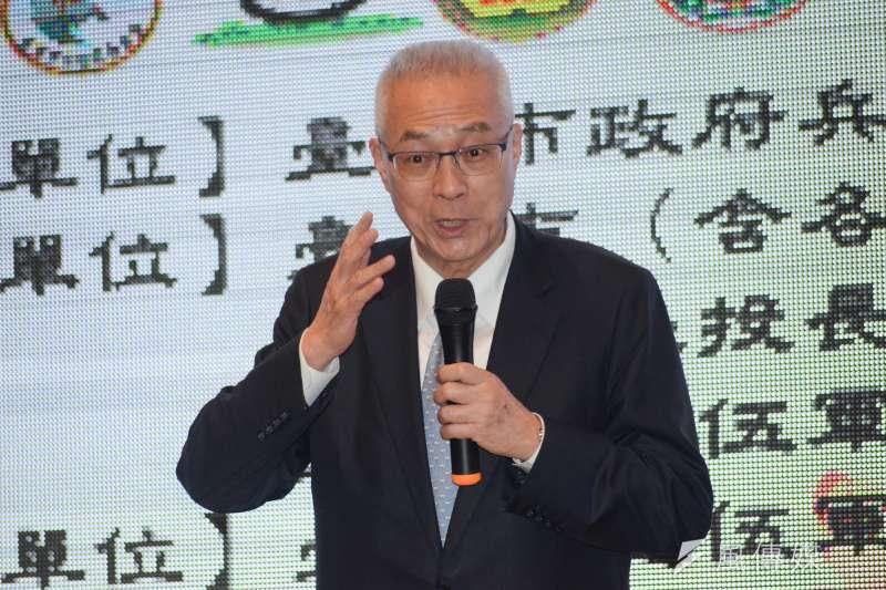 國民黨主席吳敦義今(4)日表示,「我最愛的國家當然是中華民國,那還用問嗎?」(甘岱民攝)