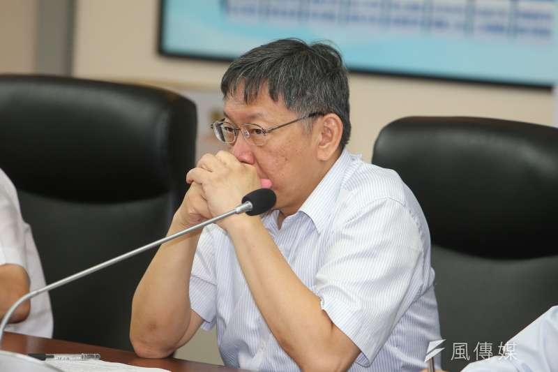 台北市長柯文哲傳出向媒體施壓,台灣新聞記者協會與國際新聞記者聯盟7日晚間發表聯合聲明,「共同譴責市府主導介入媒體報導和調查,並且要求市政府立刻停止對於媒體的恫嚇和騷擾。」(資料照,陳明仁攝)