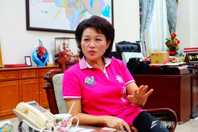 嘉義市議長蕭淑麗說,她當年無條件退選,沒任何職位安排,也沒和國民黨有默契,但在退選後,卻還是被說三道四。(羅暐智攝)