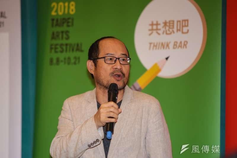 20180809-台北市文化局長鍾永豐9日出席「第20屆台北藝術節」開幕記者會。(顏麟宇攝)